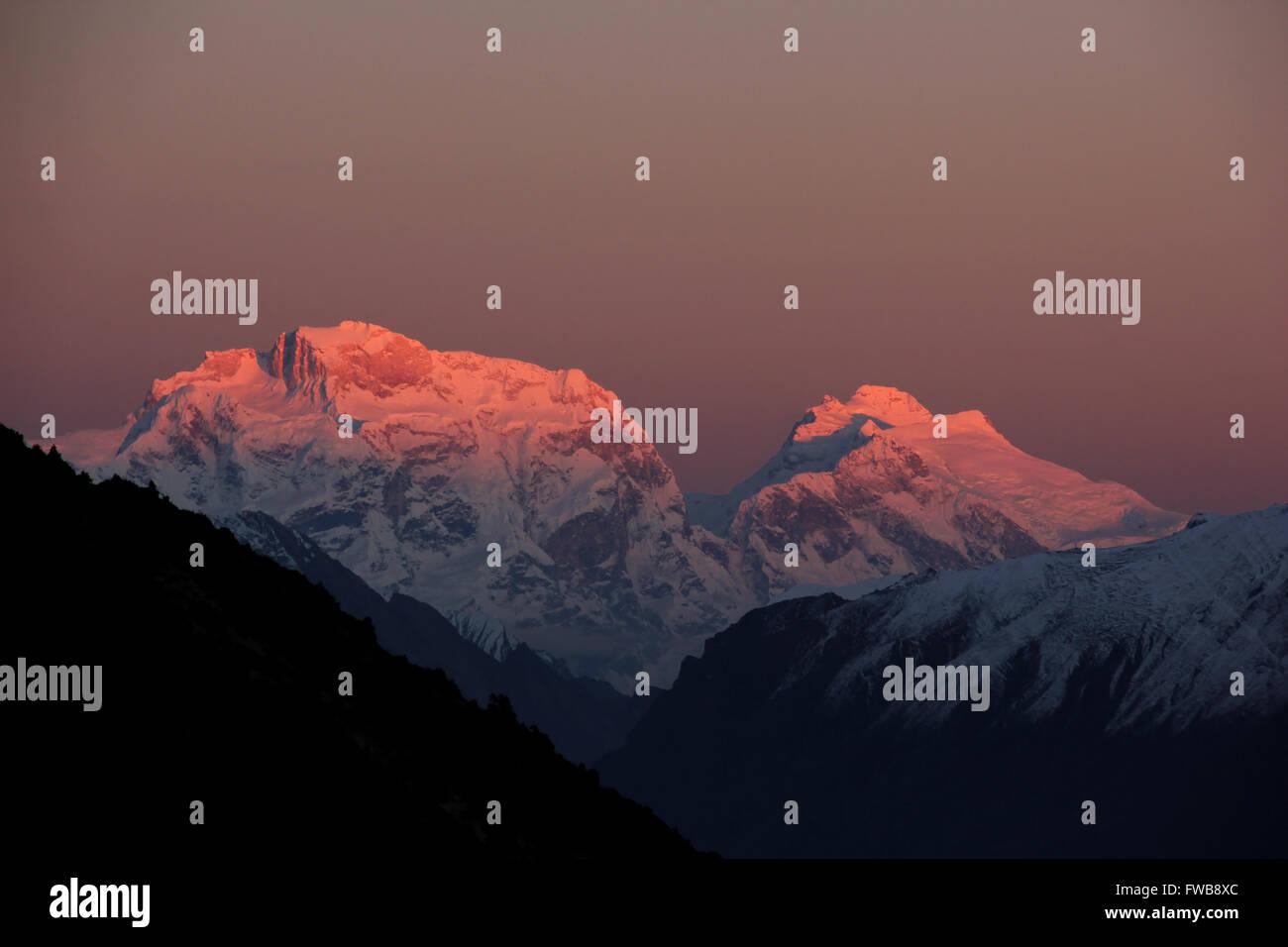 Ngadi Chuli and Himal Chuli - Stock Image