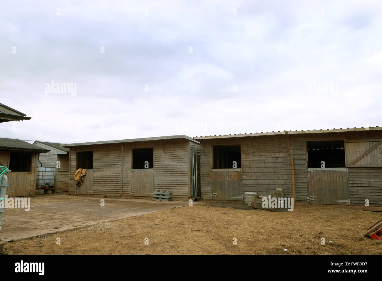 Small Rural Horse Stables In Rural Somerset Stock Photo Alamy