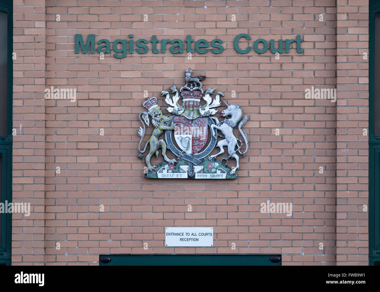Swindon Magistrates court in Princess Street Swindon, Wiltshire, UK - Stock Image