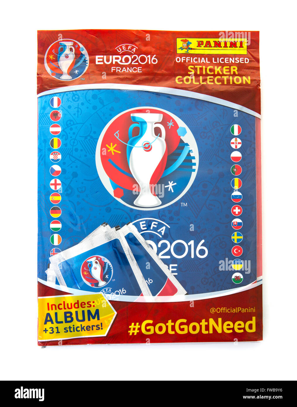 Panini Euro 2016 France Sticker Collection and Album on a white background e910cb2f8c0db
