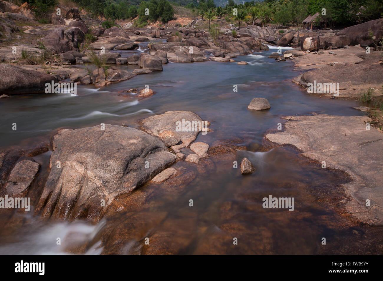 River at Yersin National Park, Ninh Thuan, Nha Trang, Vietnam - Stock Image
