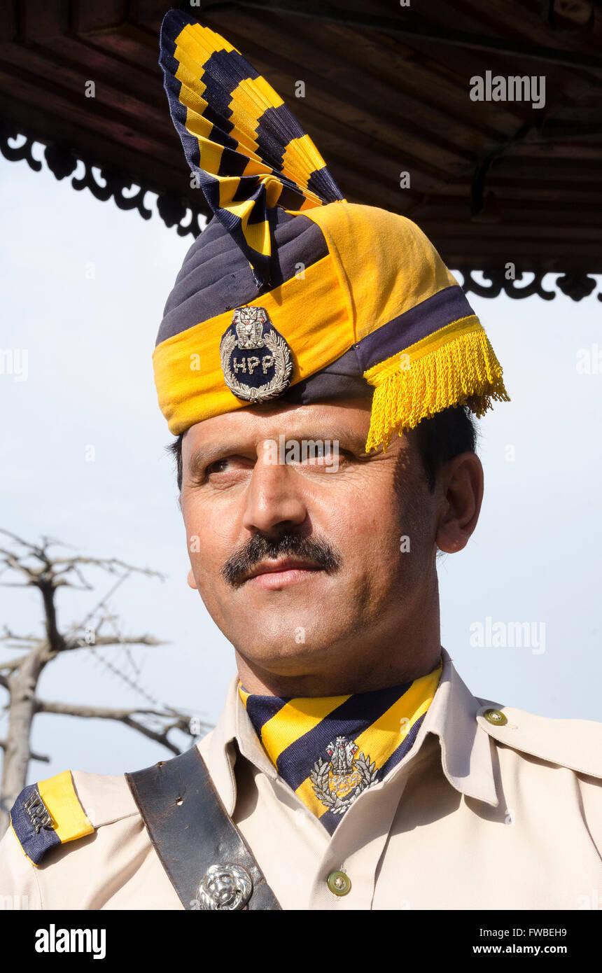 Policeman, Simla, Himachal Pradesh, India, - Stock Image