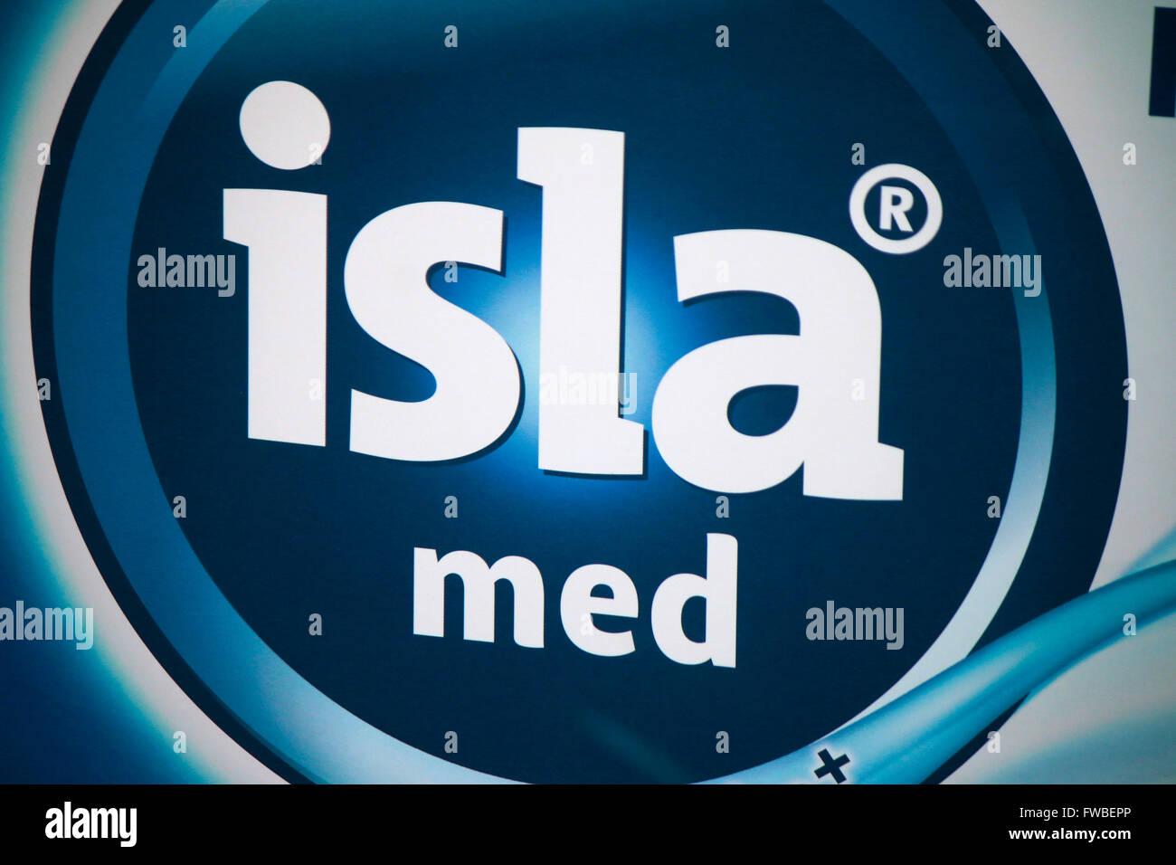 Markennamen: 'Isla Med', Berlin. - Stock Image