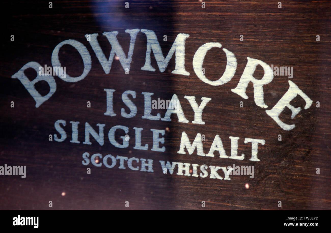 Markennamen: 'Bowmore Islay', Berlin. - Stock Image