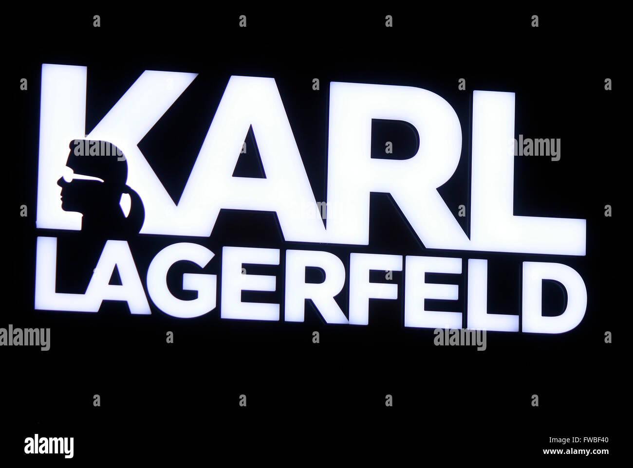 Karl Lagerfeld Logo Stock Photos Karl Lagerfeld Logo Stock Images