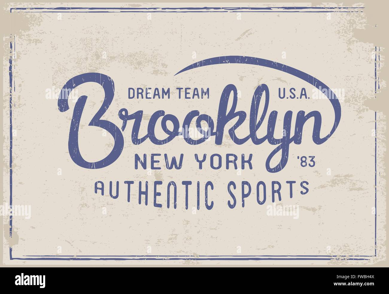 fa4479bc Brooklyn New York print for t-shirt or apparel. Old school graphic for  fashion or printing. Vintage design and typography.