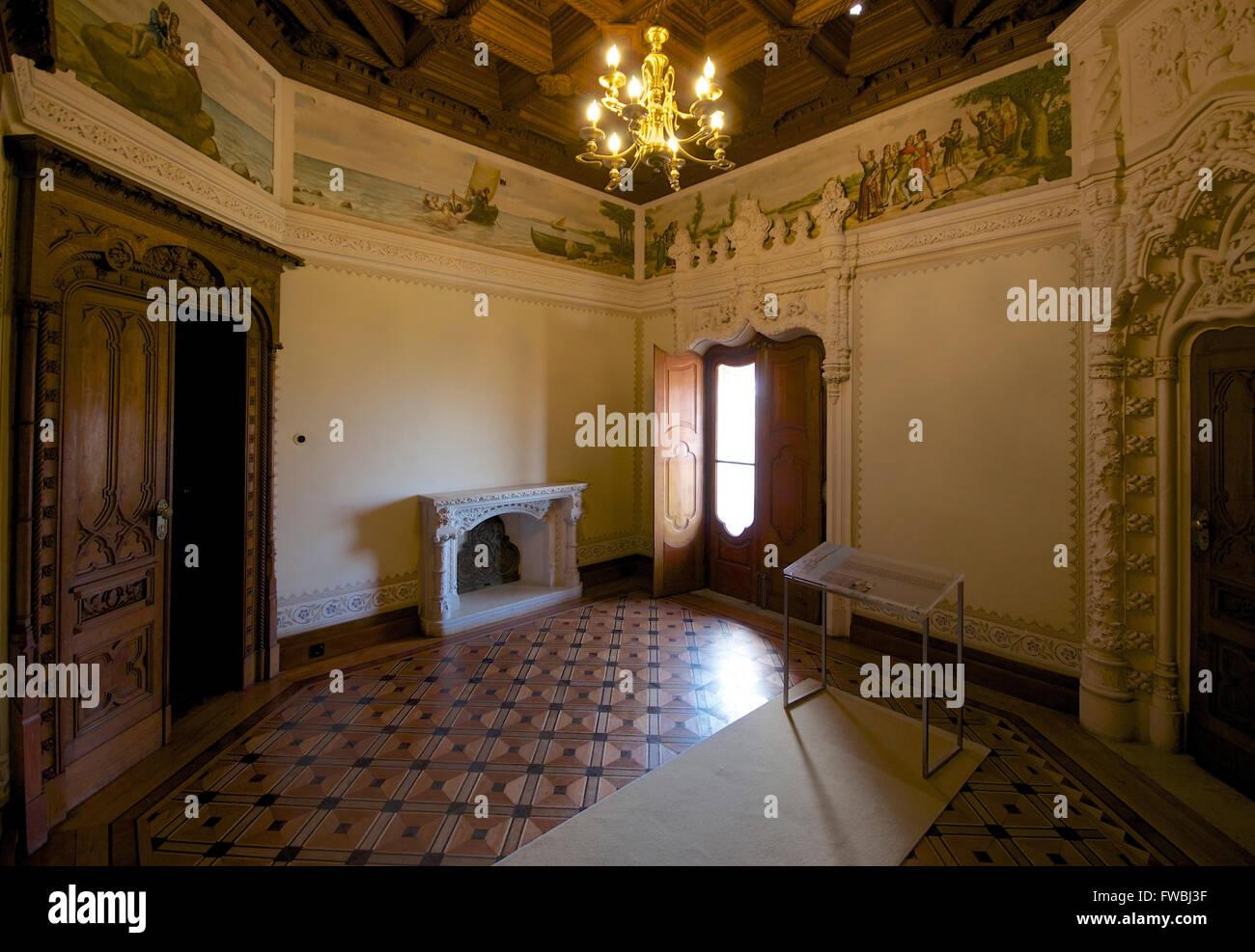 Interior of Quinta da Regaleira, Sintra, Portugal - Stock Image
