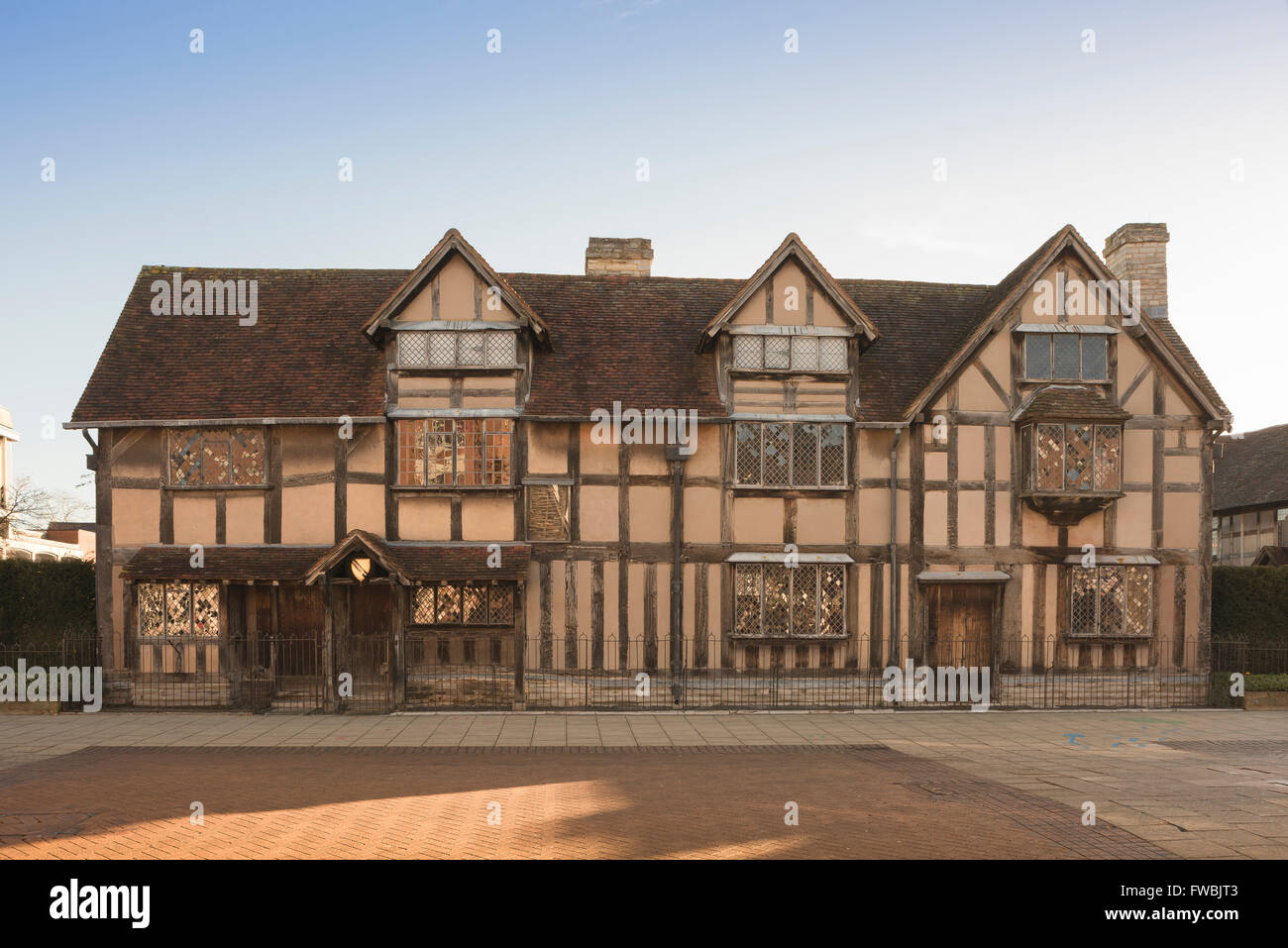William Shakespeare's birthplace in Henley Street, Stratford Upon Avon, England. - Stock Image