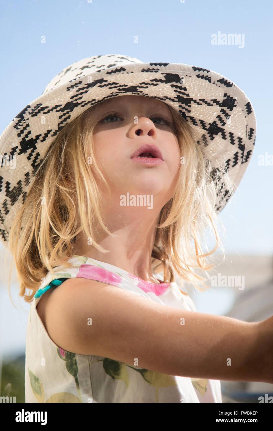 Big Girls Hat - Stock Image
