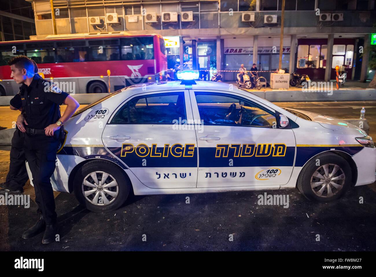 נפלאות Kia police car in Tel Aviv city, Israel Stock Photo: 101675455 - Alamy HH-39