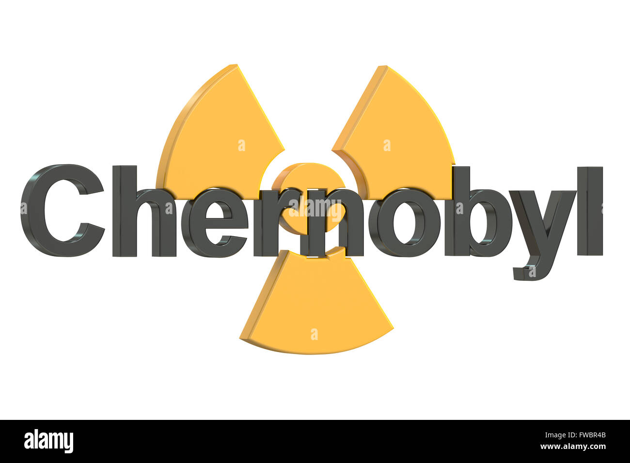 Chernobyl disaster concept, 3D rendering - Stock Image