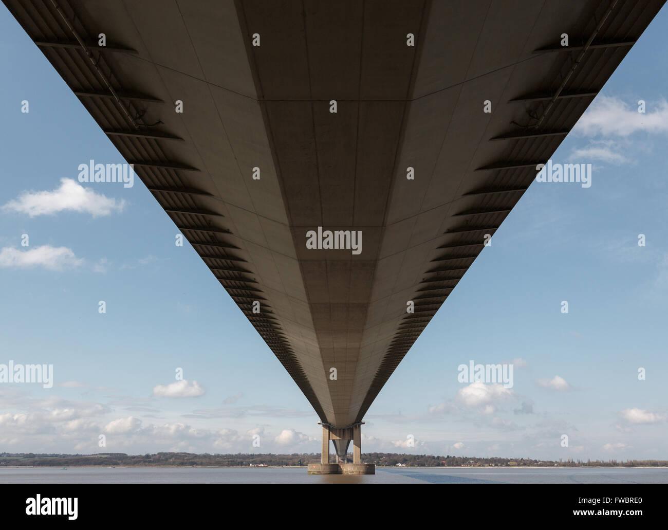 Under Humber Bridge - Stock Image