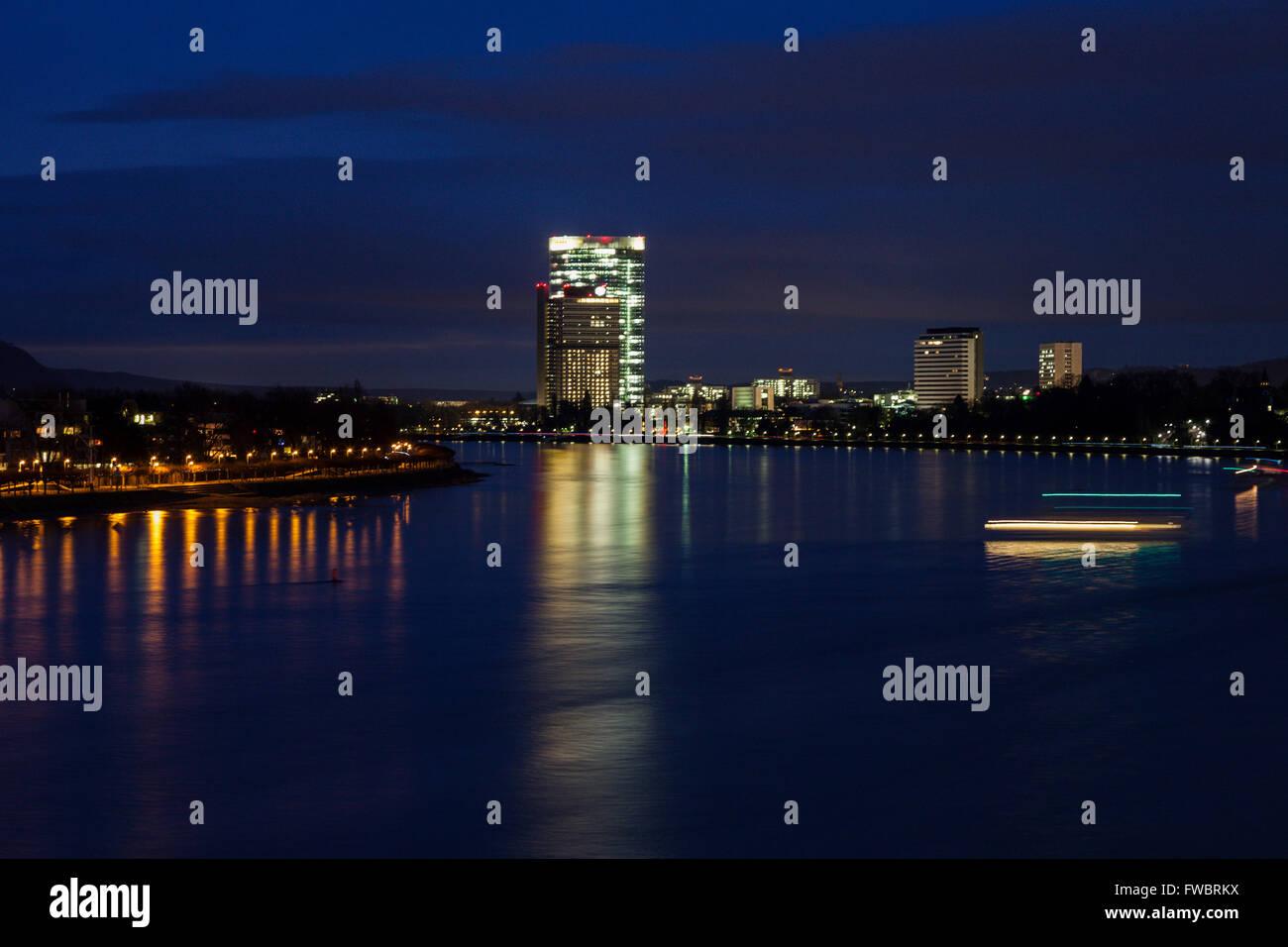Rhine River in Bonn - Stock Image