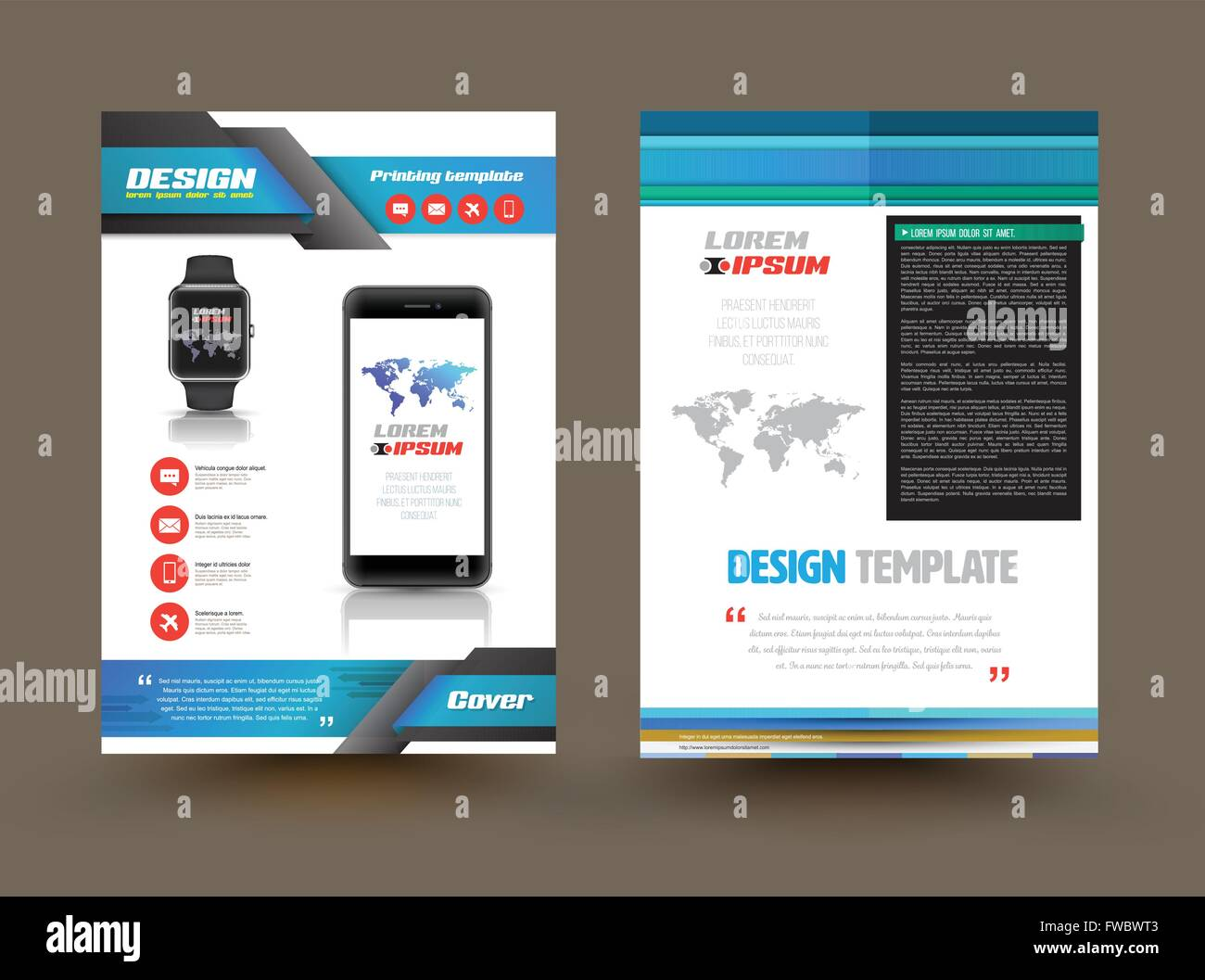 Vector Brochure Template Design For Technology Product Business