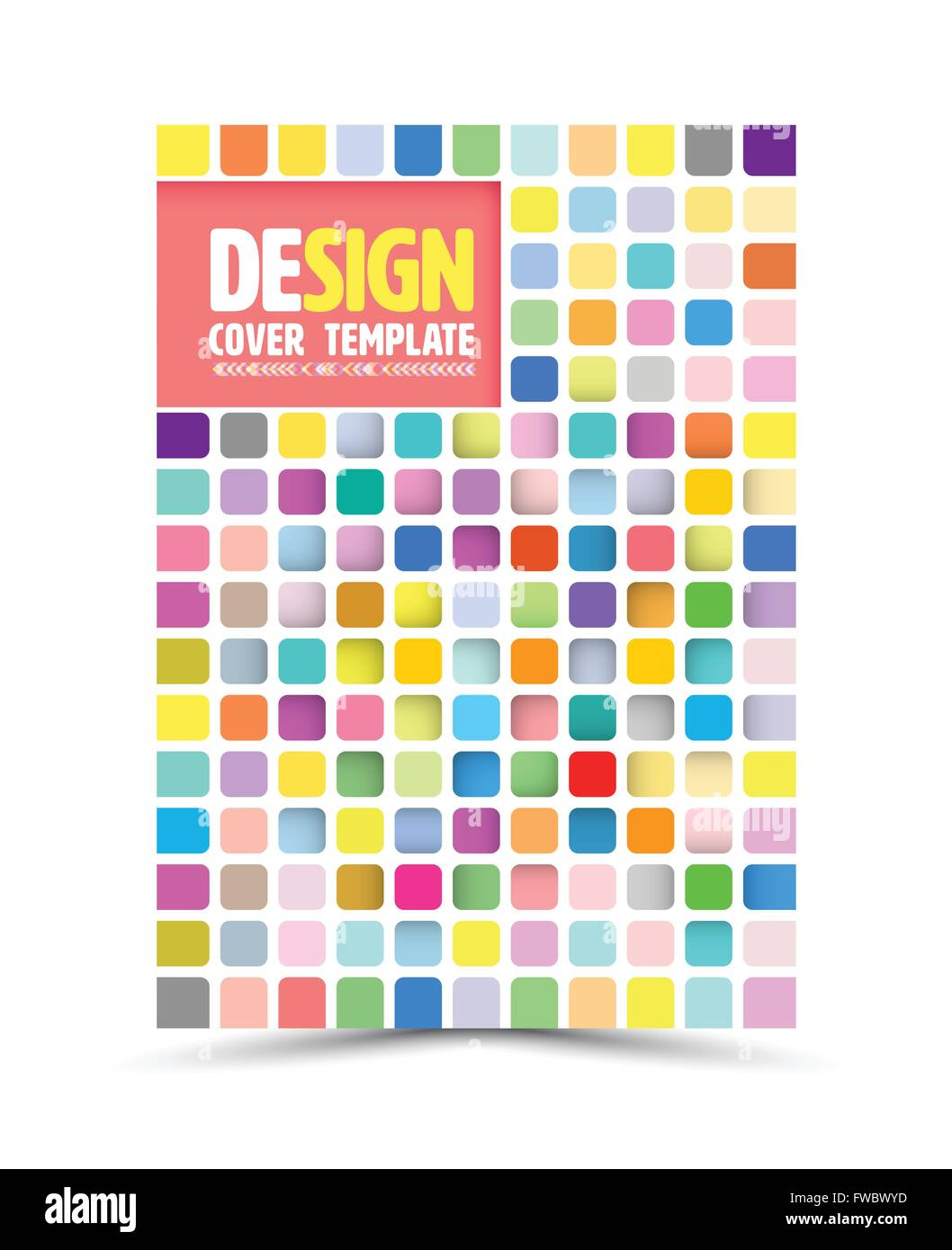 Vector book cover design template, flyer layout, magazine cover & poster template. Vector illustration. Can - Stock Image