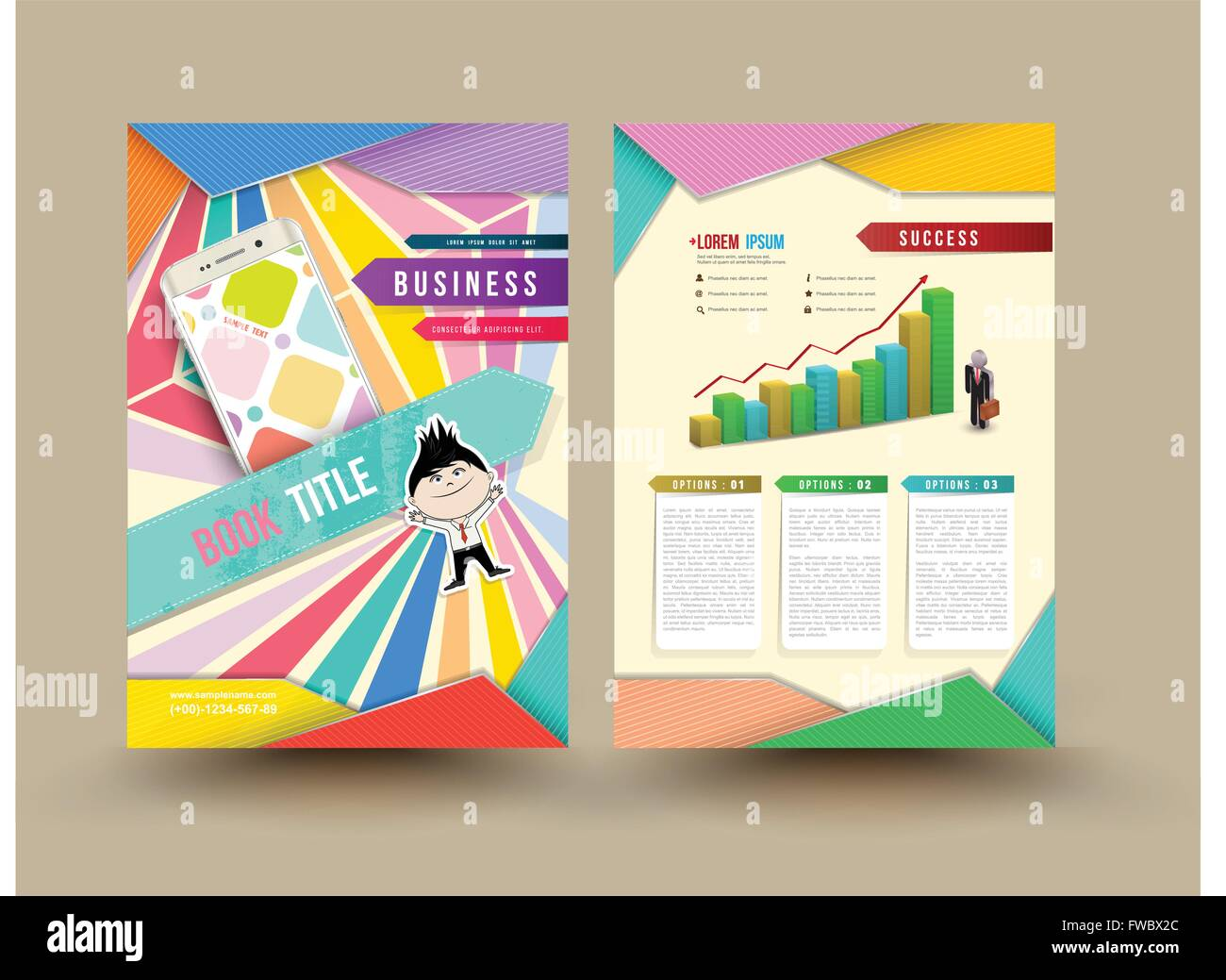 Vector Brochure Template Design Business Graphics Brochures Used