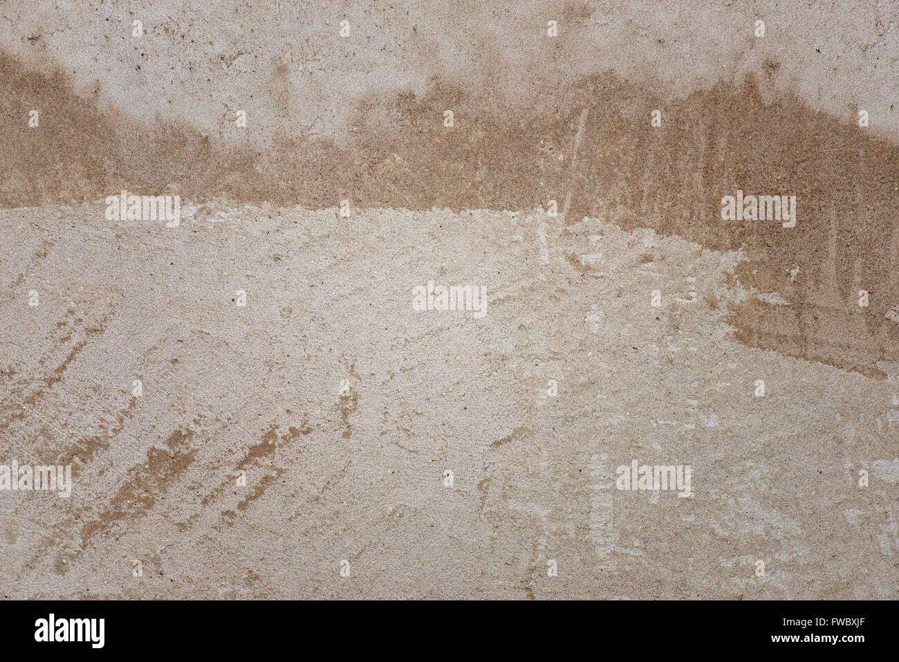 Old scratched dirty concrete wall with shape. Texture. Background - Stock Image