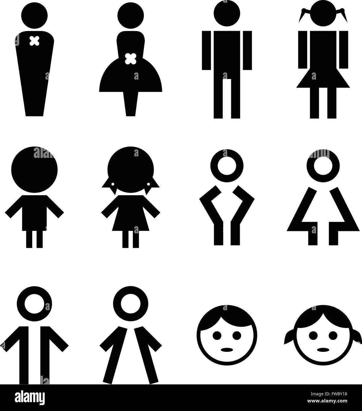 Man and woman sign - Stock Image