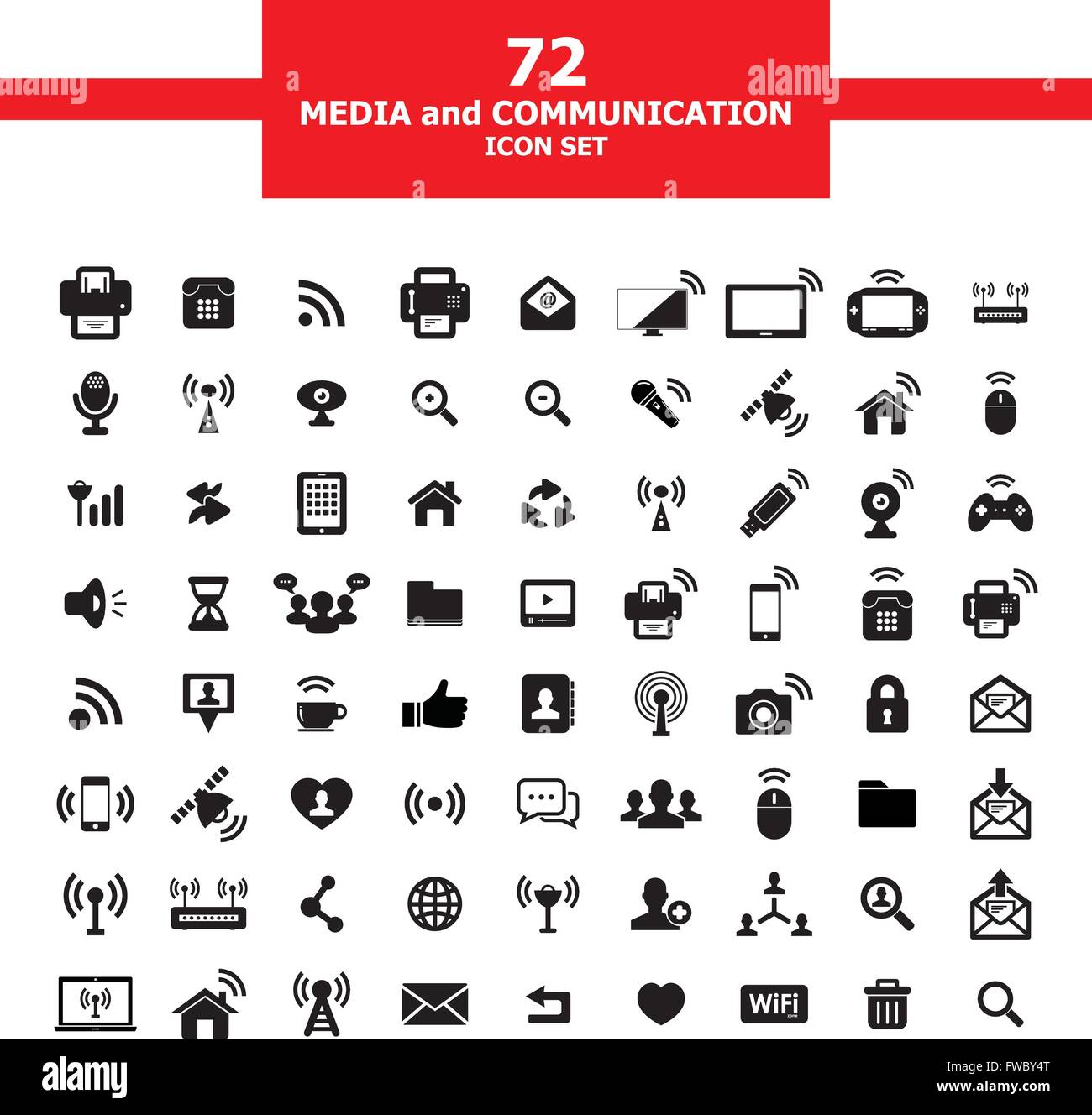 Media and Communication - Stock Vector