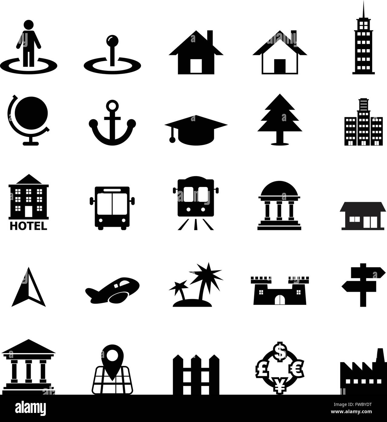 Place icon - Stock Image