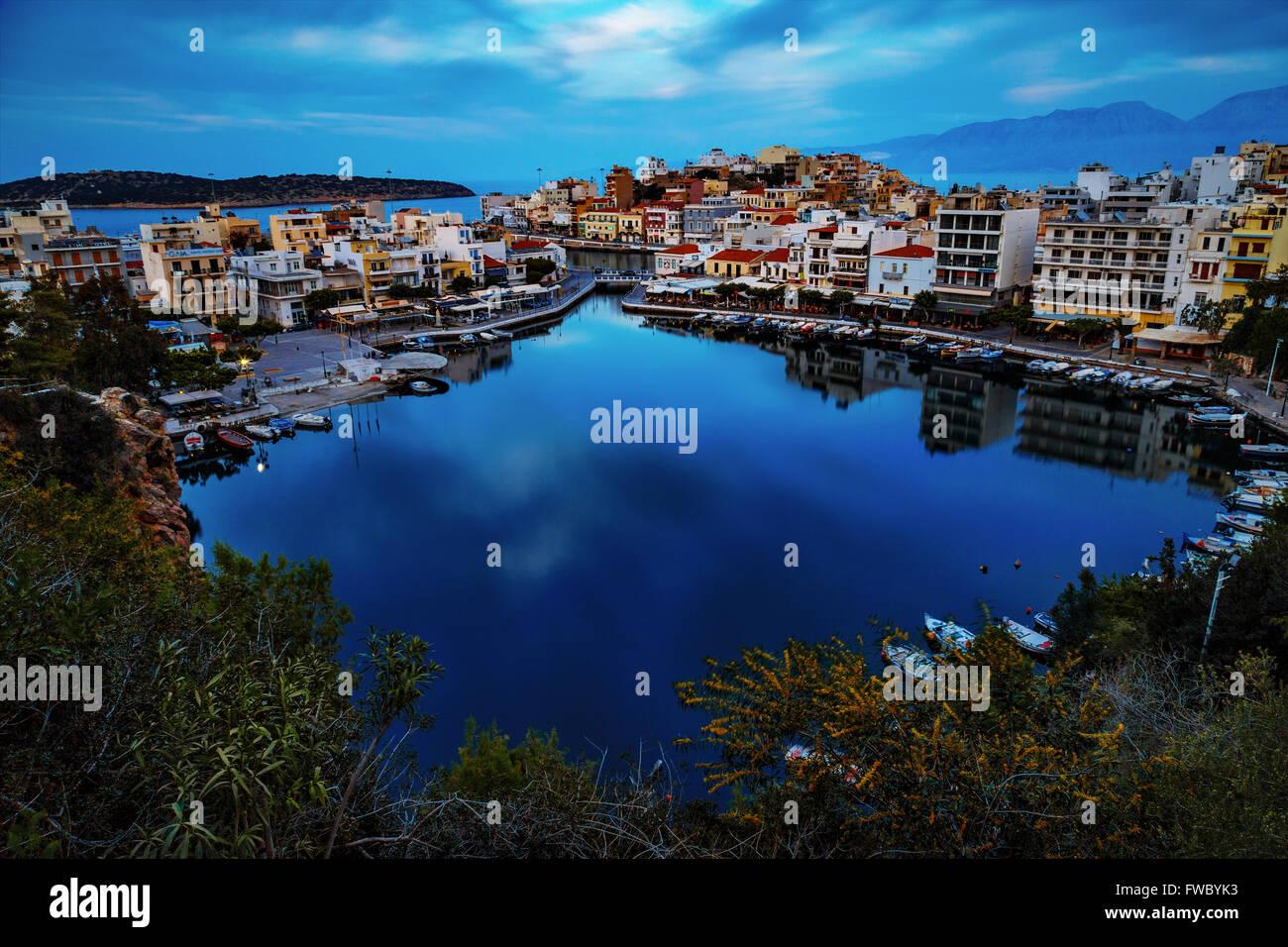 Lake of Agios Nikolaos - Stock Image
