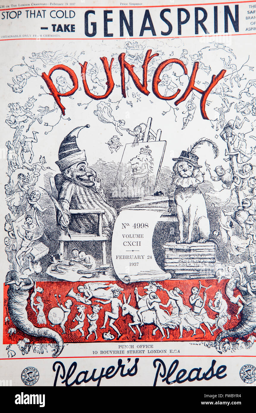 1930s Punch magazine cover - Stock Image