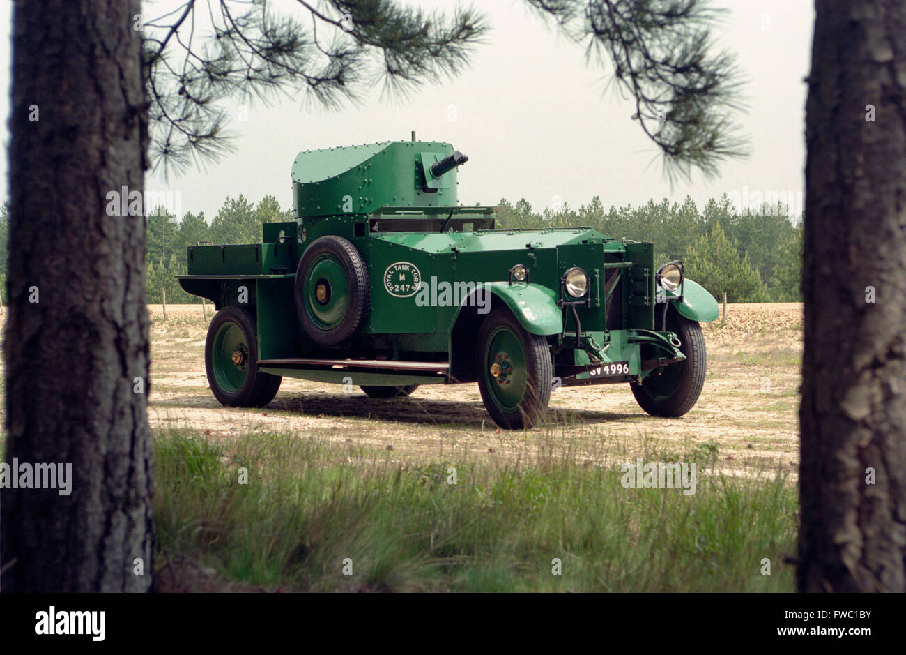 A rolls royce tank or armoured car from the period of the first ...