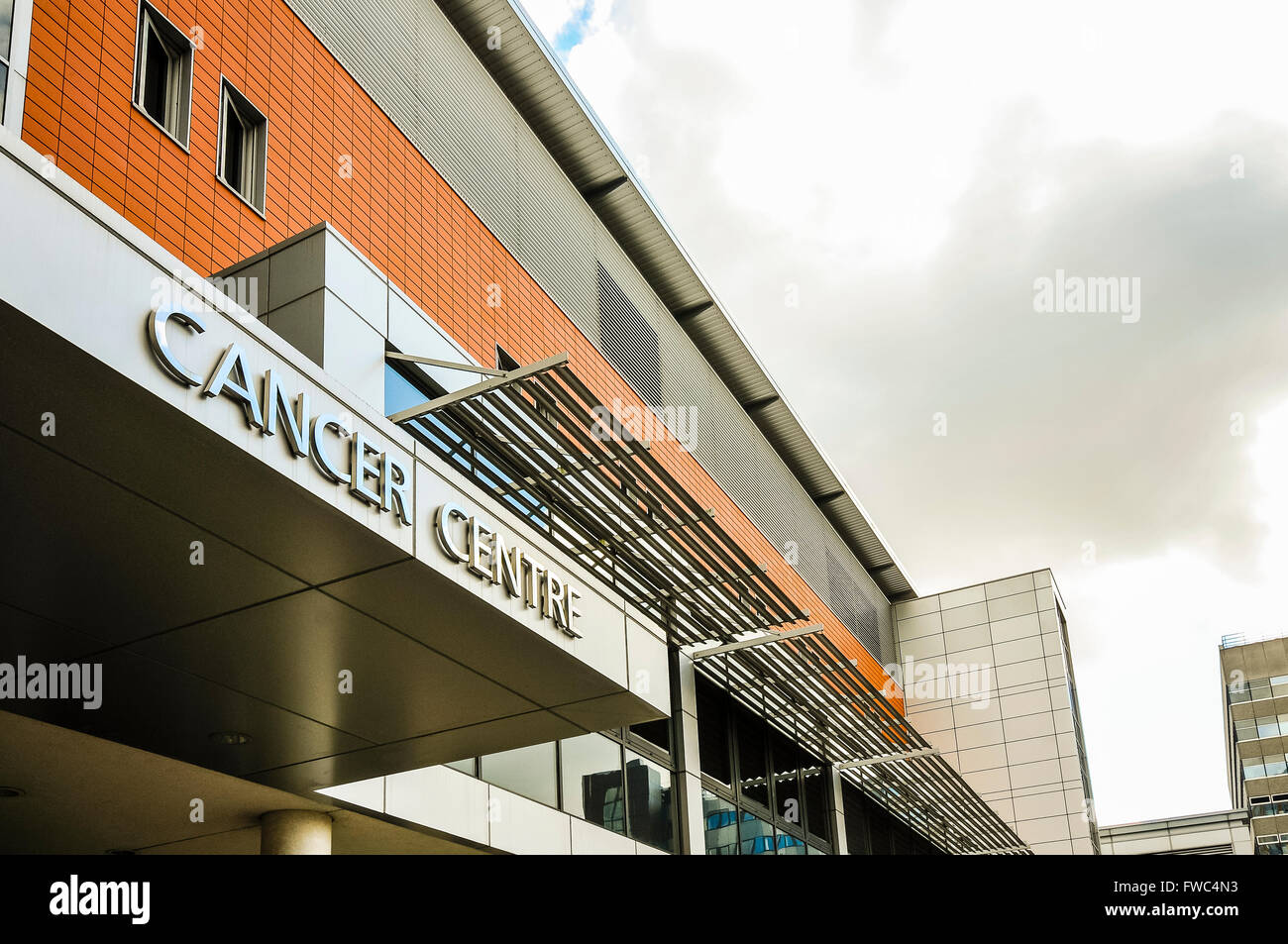 Northern Ireland Cancer Centre at the Belfast City Hospital. - Stock Image