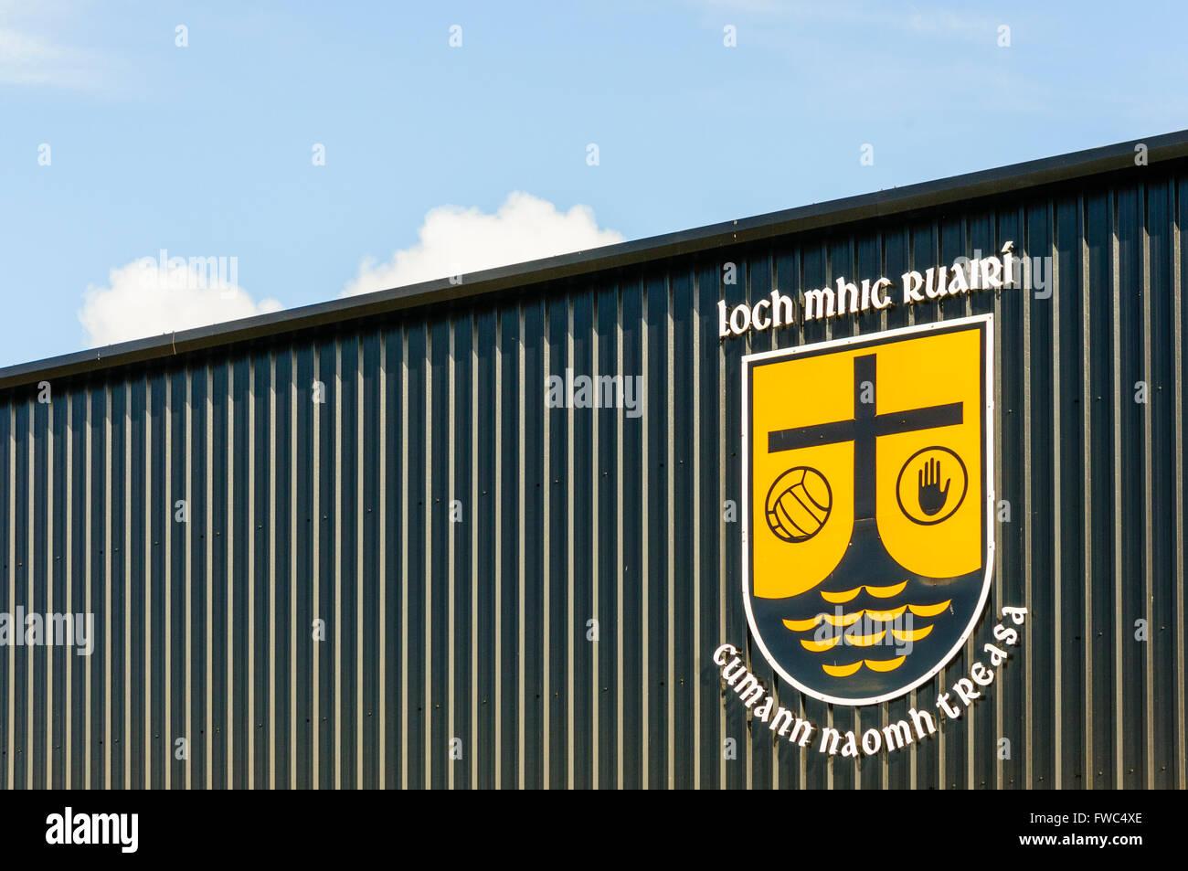 Loch mhic Raurí GAA grounds, Loughmacrory, County Tyrone, Northern Ireland. Stock Photo