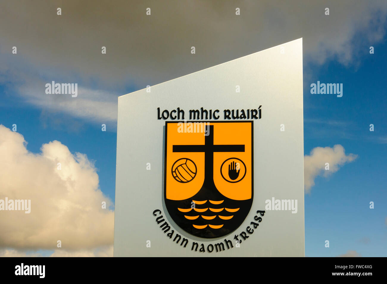 Loch mhic Raurí GAA grounds, Loughmacrory, County Tyrone, Northern Ireland. Stock Photo