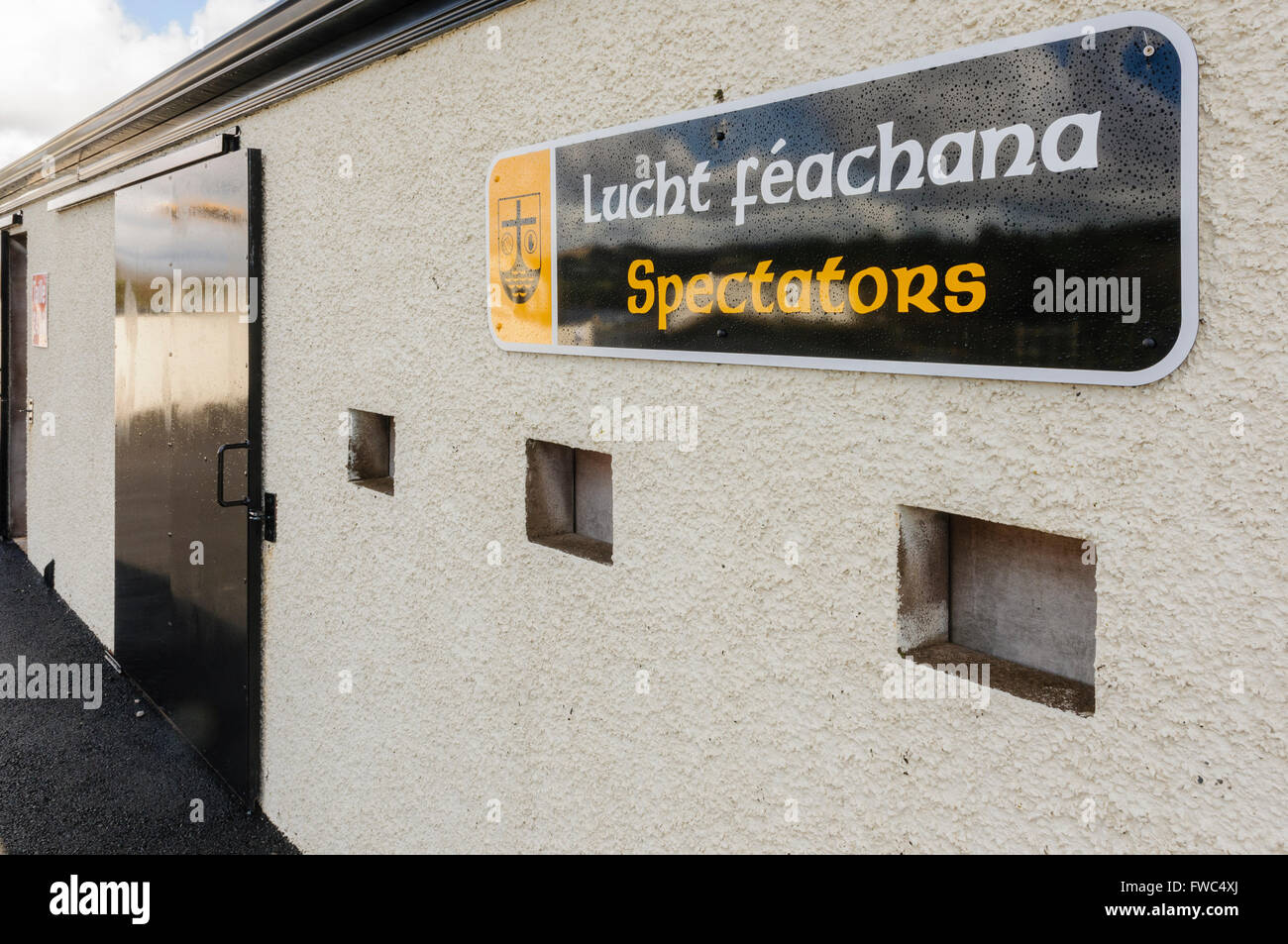 Spectators entrance at a GAA grounds in Ireland. Stock Photo
