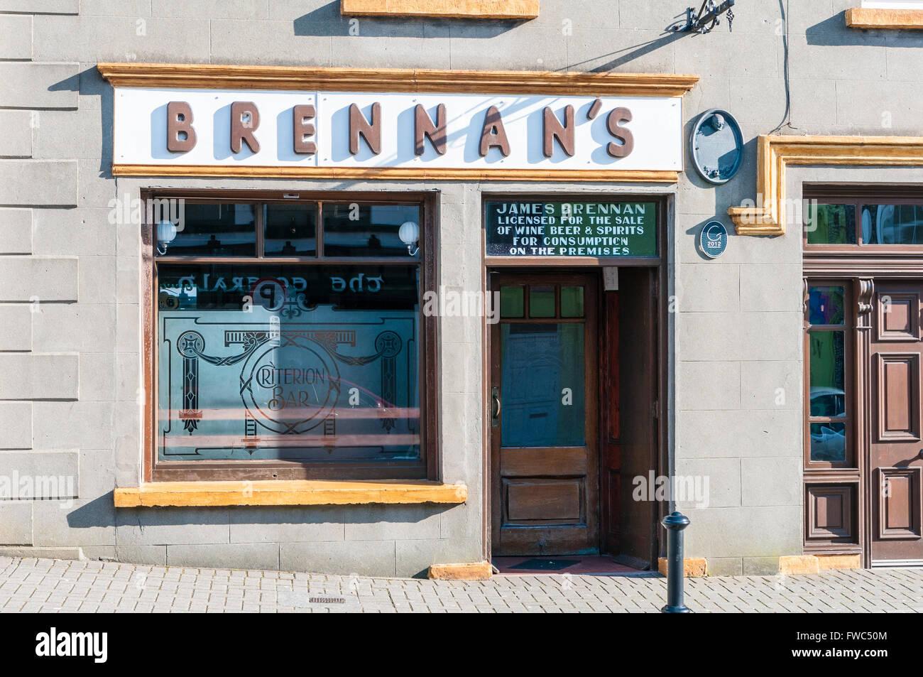 Brennan's Irish pub.  Bundoran, Ireland - Stock Image