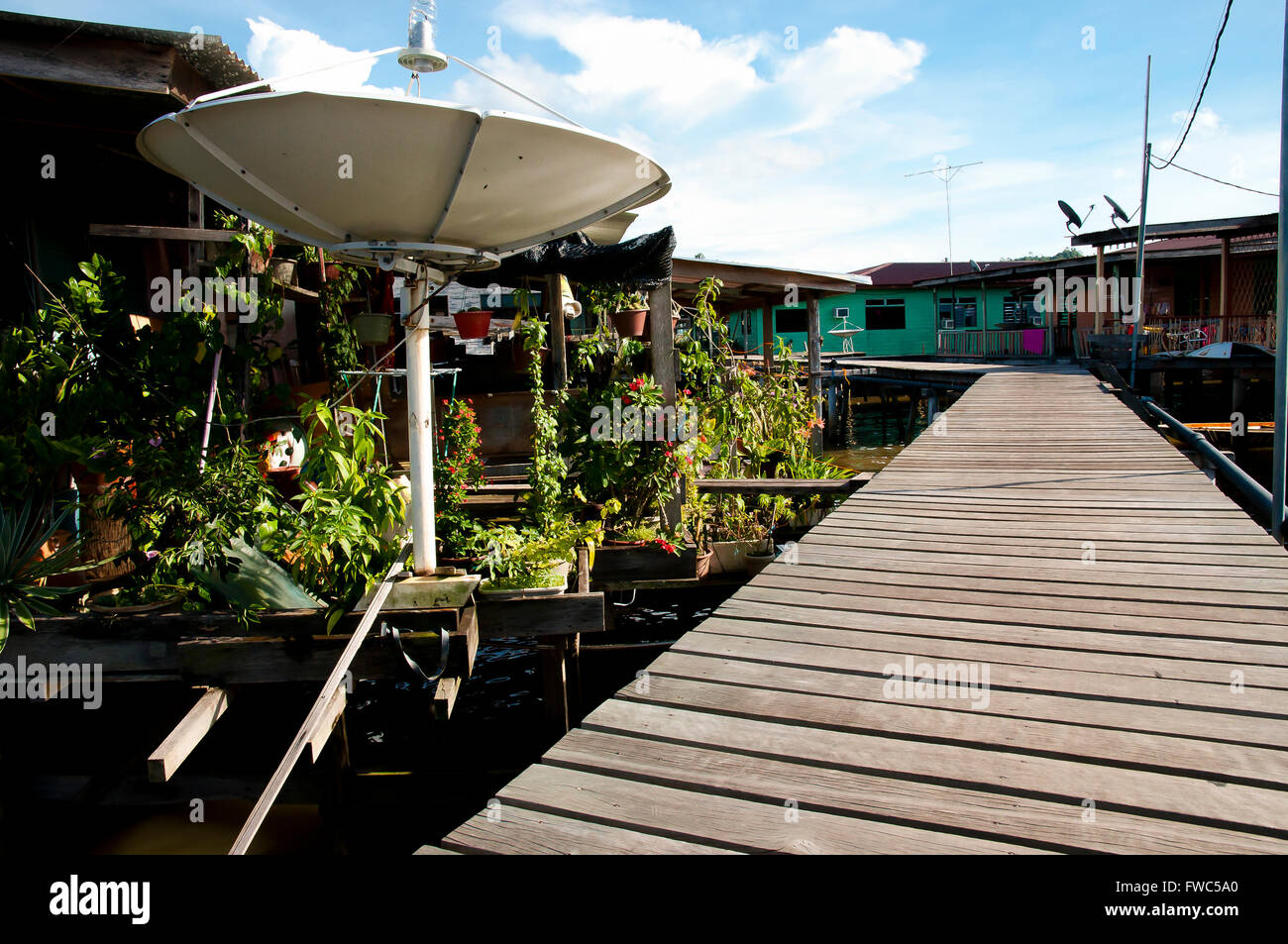 Water Village - Bandar Seri Begawan - Brunei - Stock Image