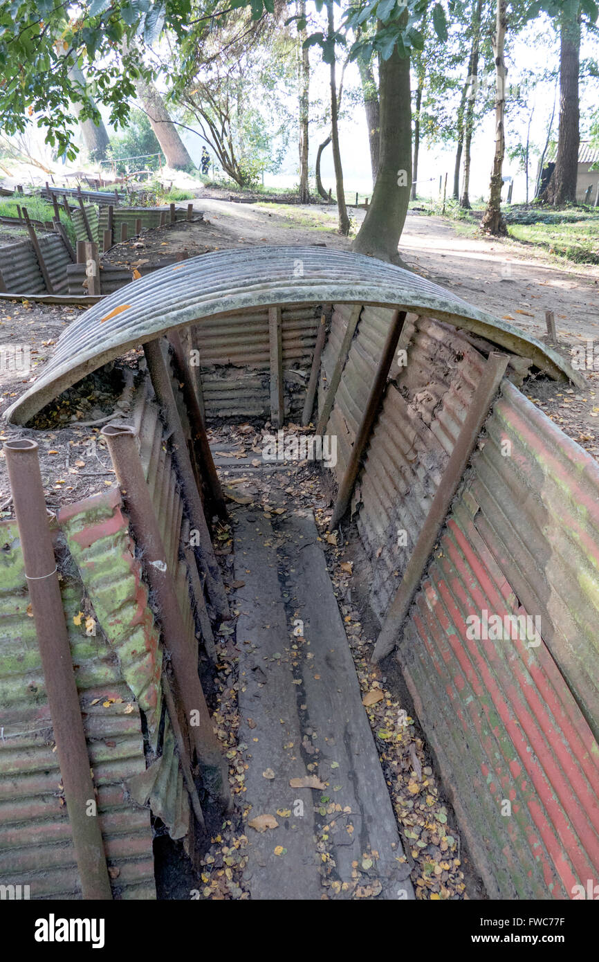 British World War 1 Trenches At Hill 62 Sanctuary Wood On