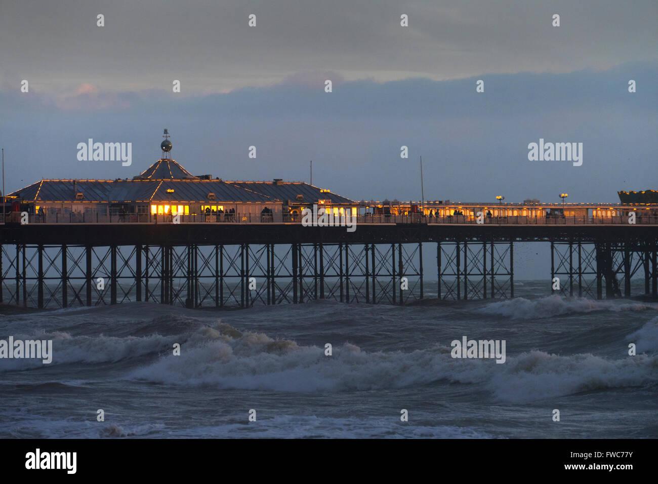 Brighton Pier, Brighton, England, - Stock Image
