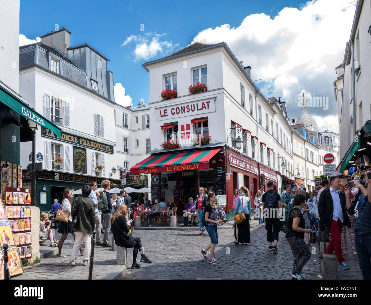 Montmartre, Paris, France. Stock Photo