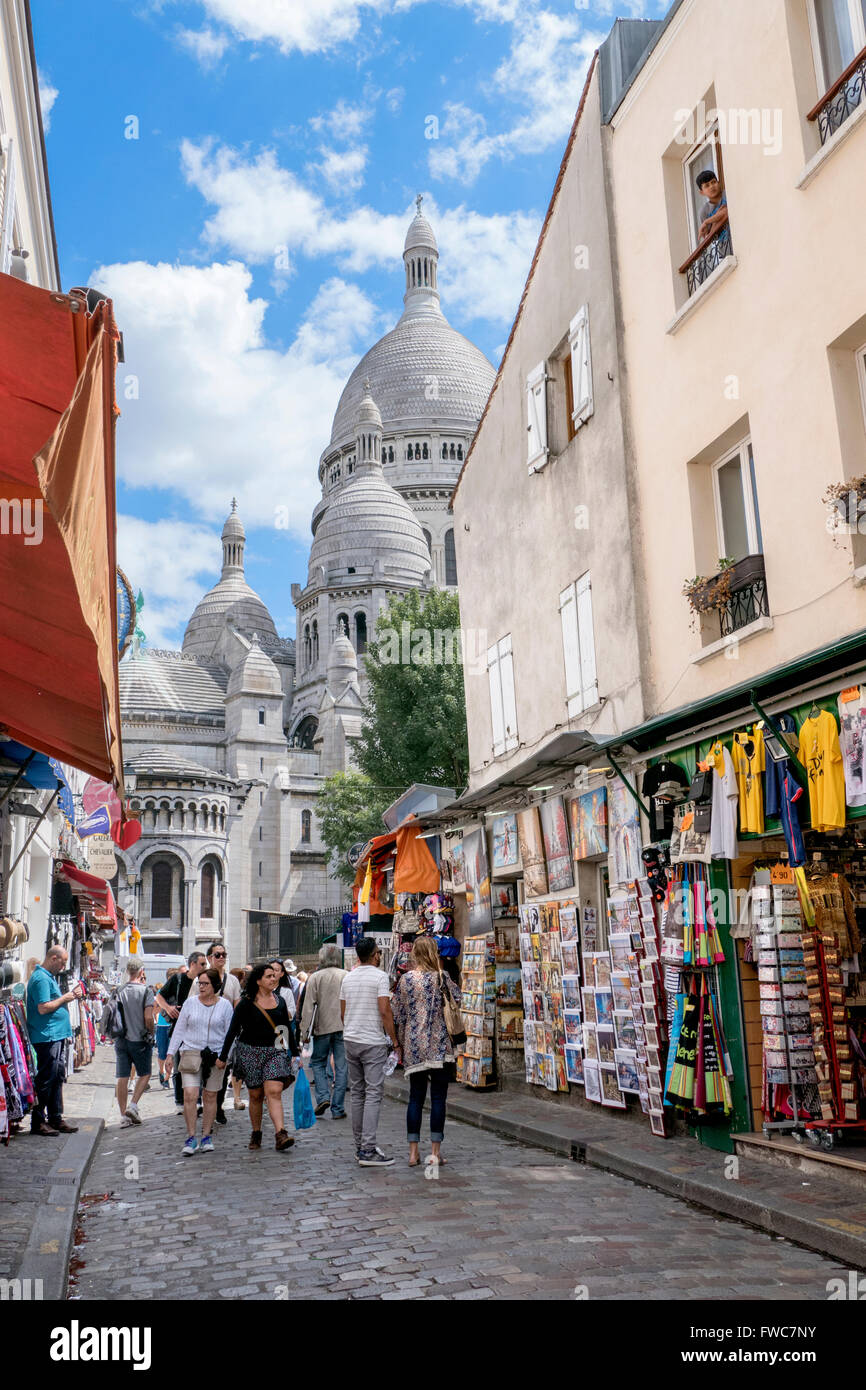 The Sacré Coeur at Montmartre, Paris, France. - Stock Image