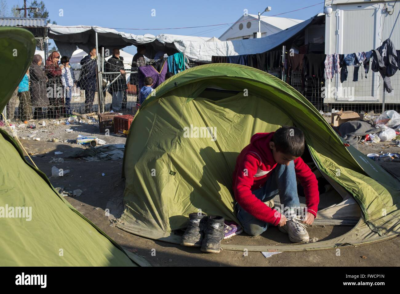 Madrid Spain 20th Mar 2016 Refugees Camp In Idomeni The Camp Stock Photo Alamy