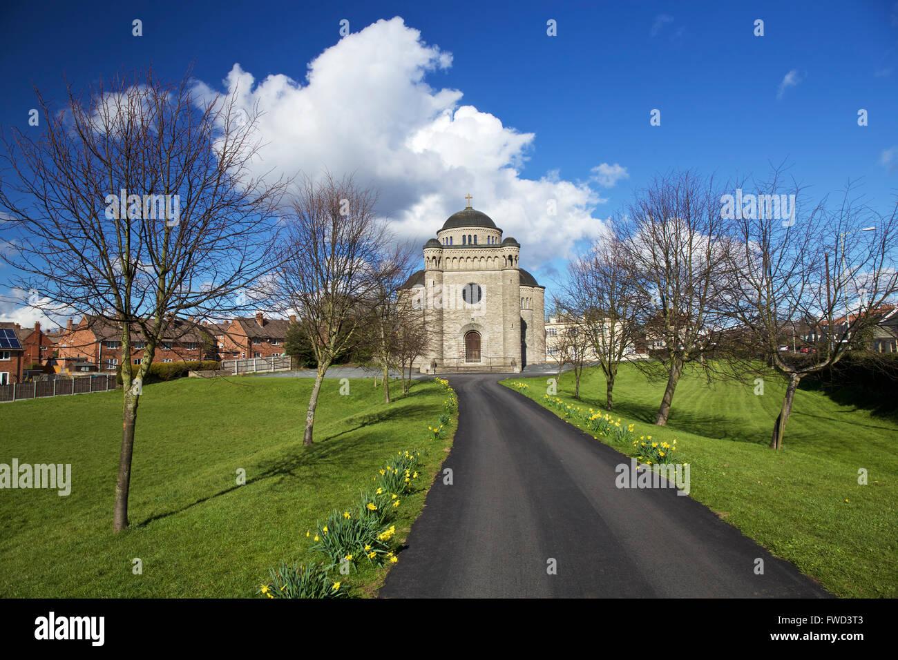 St Peters Roman Catholic Church Ludlow Shropshire West Midlands England UK - Stock Image