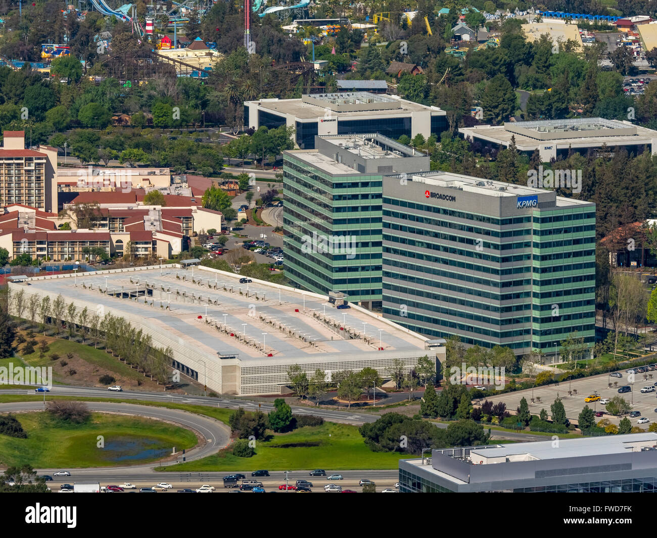 Vishay Americas inc. Broadcom ca technologies, Sophos, Silicon Valley, California - Stock Image