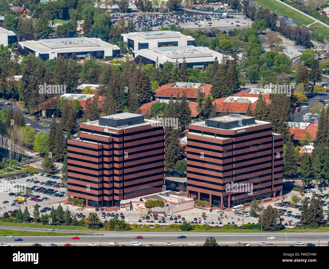 Vishay Americas inc. Broadcom ca technologies, Sophos, Silicon Valley, California, Santa Clara Silicon Valley California - Stock Image