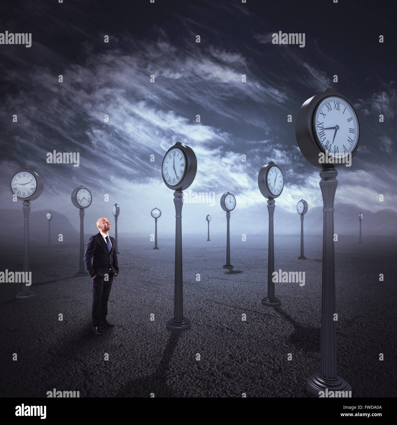 Observe the passage of time - Stock Image