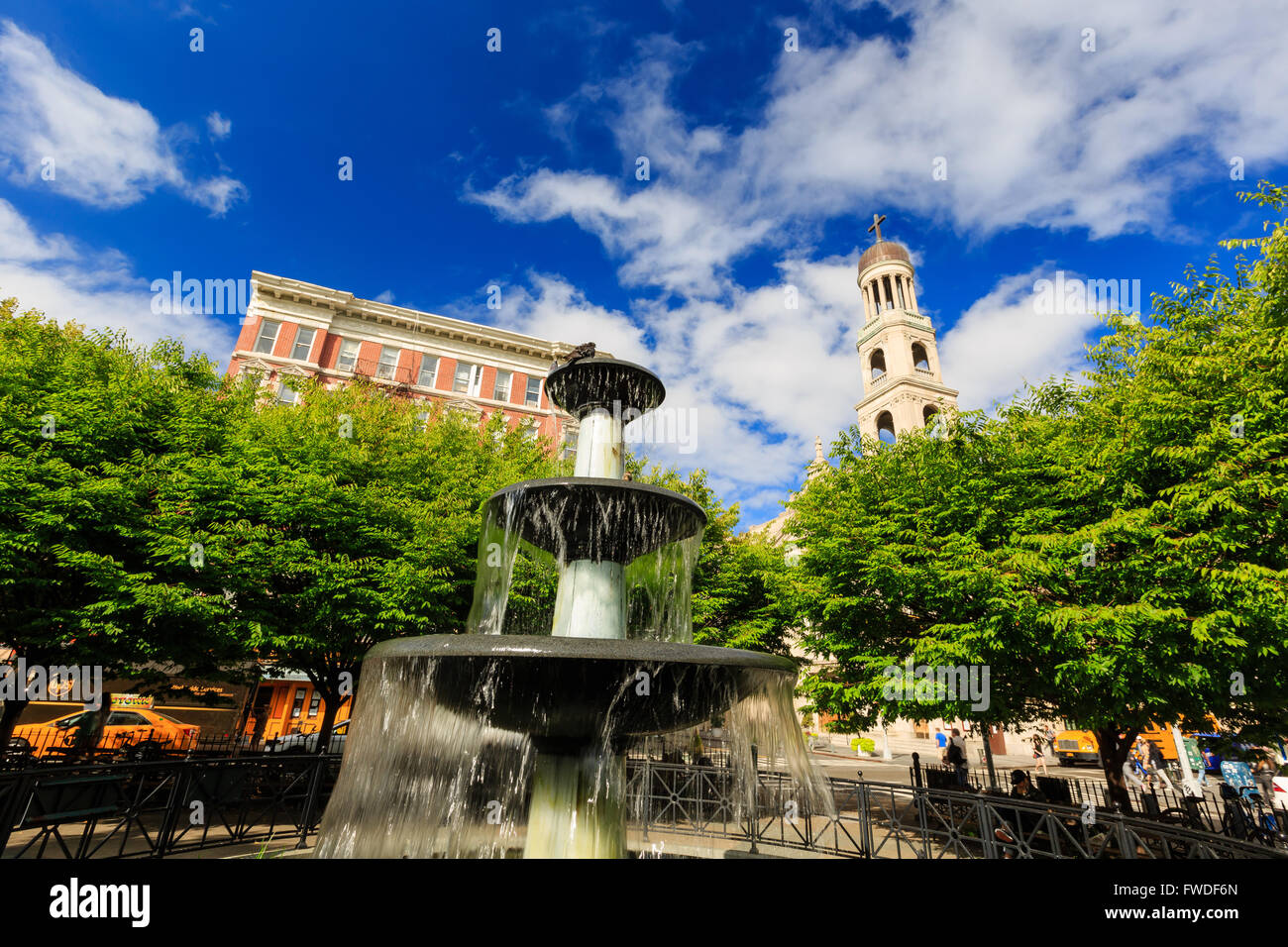 New York City, SEP 12: Some street view near Father Demo Square at New York City on SEP 12, 2014 - Stock Image