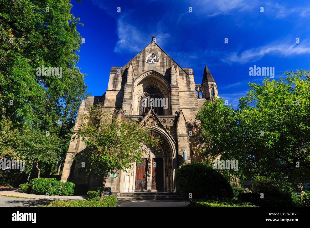 Church near The Cathedral Church of St. John the Divine, New York City - Stock Image