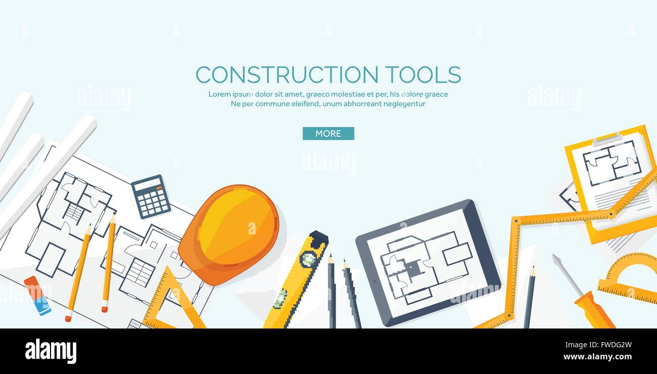 Vector illustration Engineering and architecture Drawing Stock