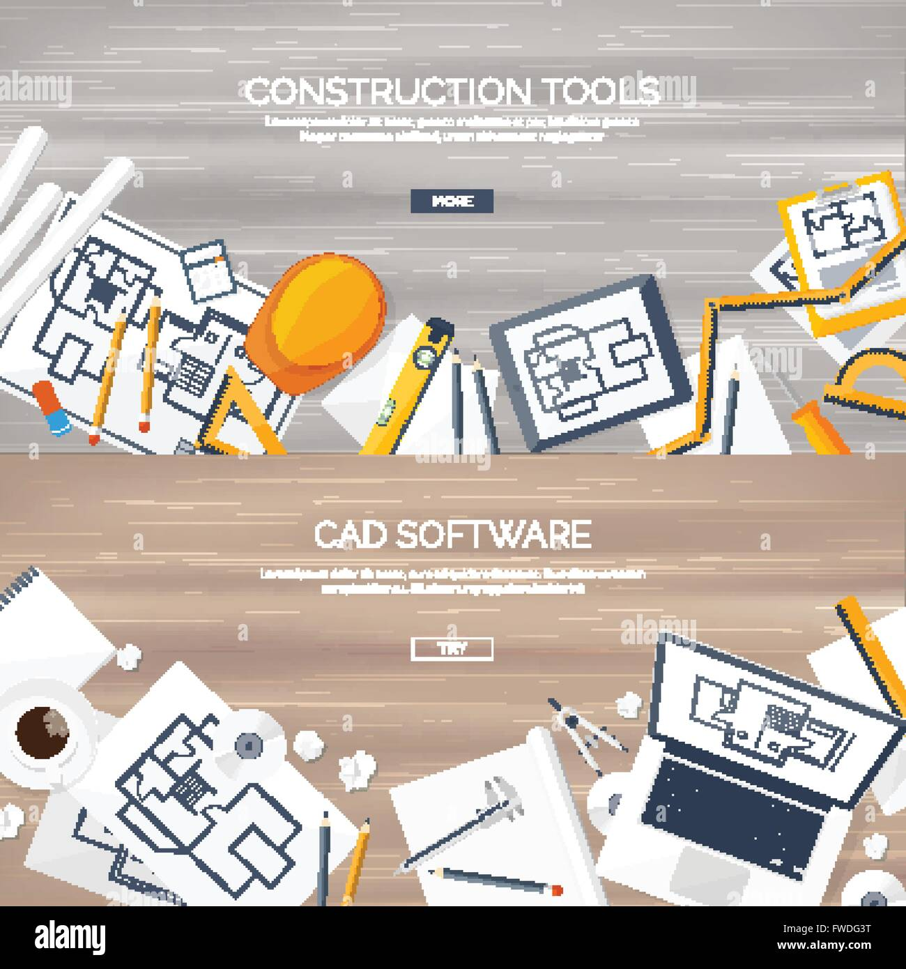Vector illustration. Engineering and architecture. Notebook Stock ...