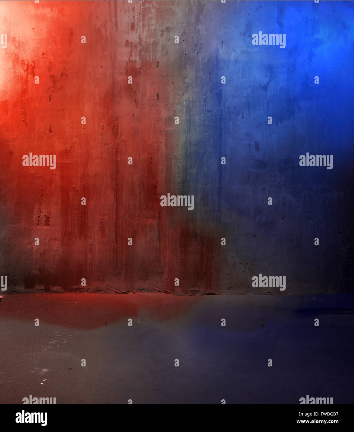 Photo of a dirty concrete wall - Stock Image