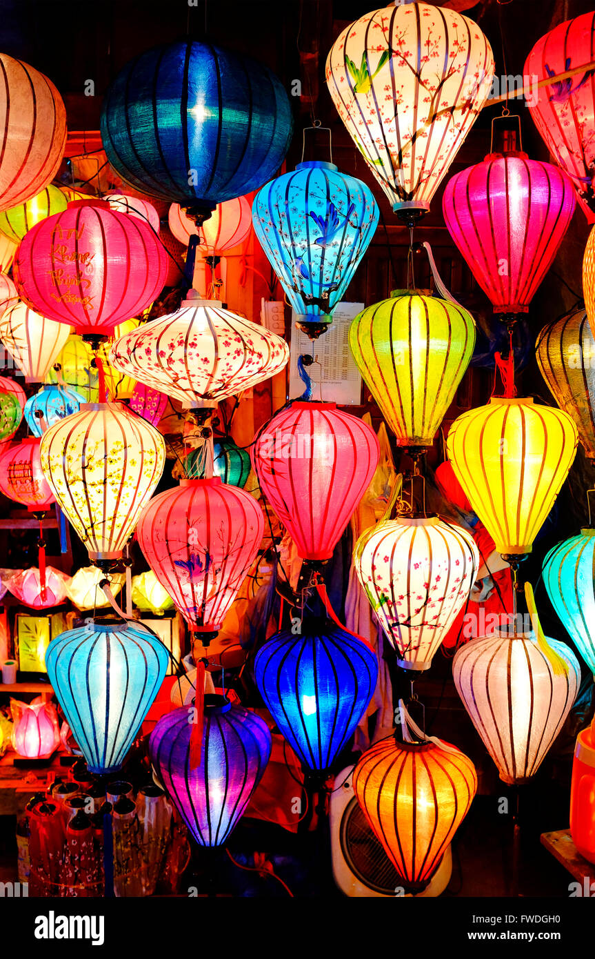 Colorful lanterns in Hoi An, Vietnam - Stock Image