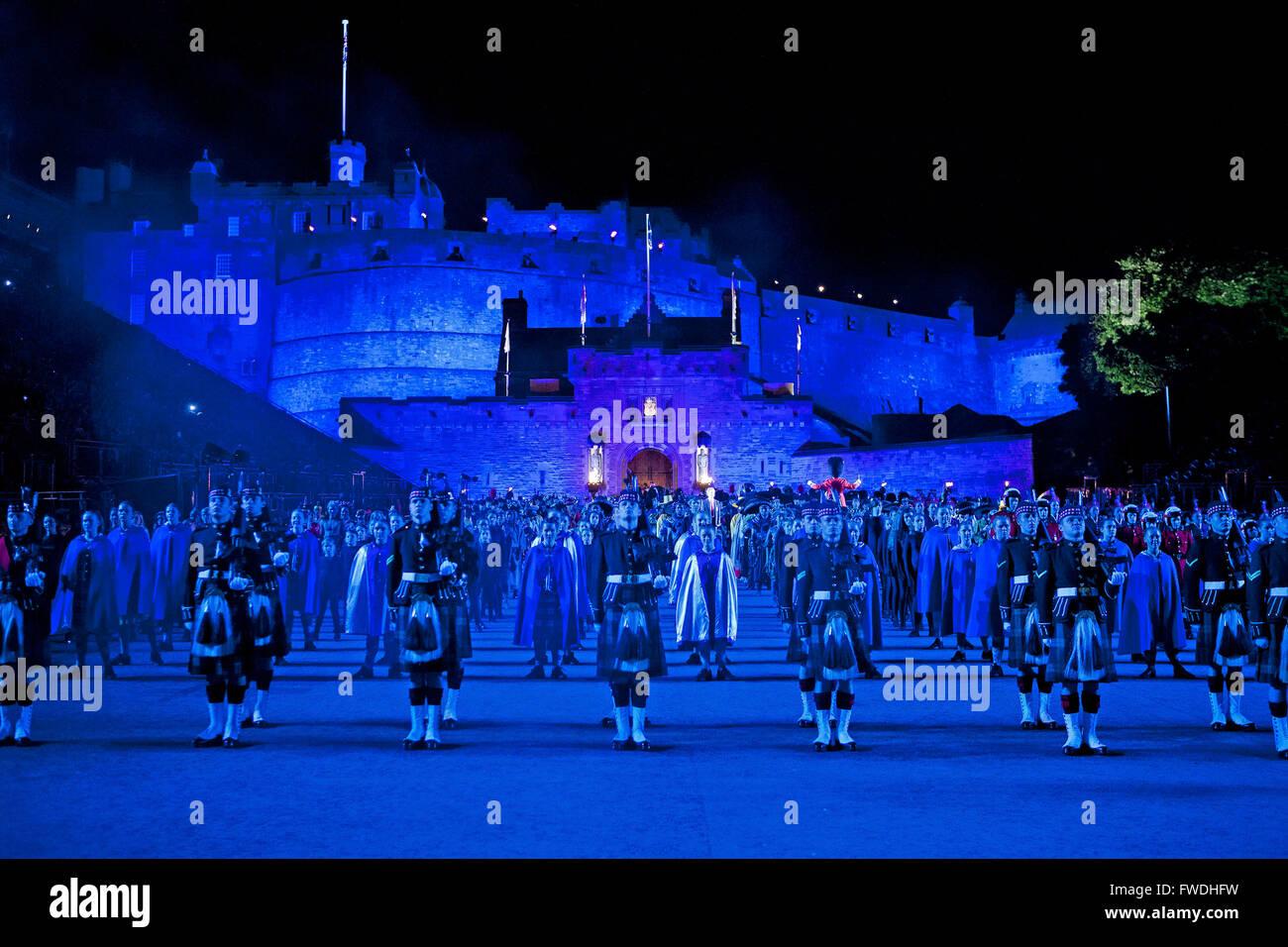 Edinburgh Festival: Edinburgh Military Tattoo Stock Photo