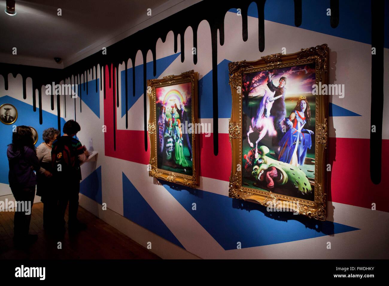 Edinburgh Festival: art exhibition - Stock Image